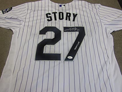reputable site 00a19 22dfb TREVOR STORY SIGNED AUTOGRAPHED COLORADO ROCKIES JERSEY JSA ...