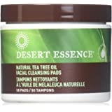 Desert Essence Natural Cleansing Pads with Tea Tree Oil, 2 Count