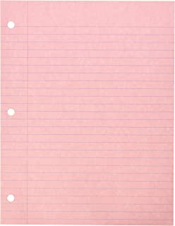Superb School Specialty 087155 3 Hole Punched Notebook Filler Paper, 8 1/2 Within Color Lined Paper