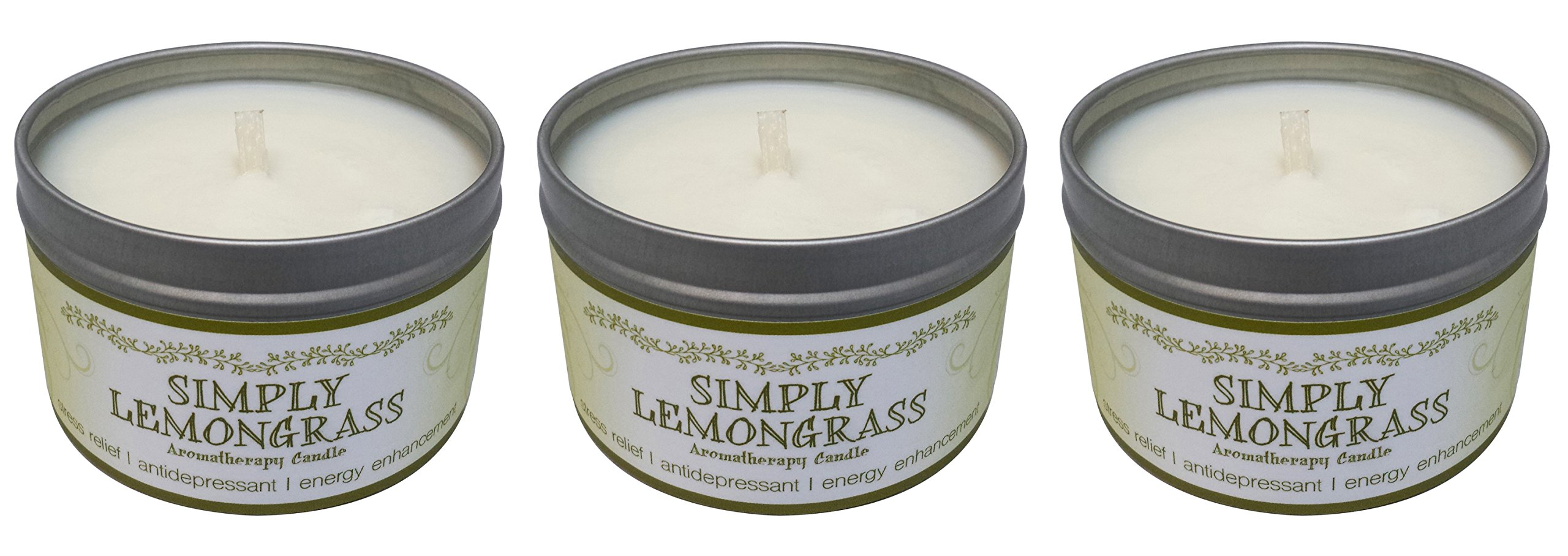 Our Own Candle Company Soy Wax Aromatherapy Candle, Simply Lemongrass, 6.5 Ounce (3 Pack) by Our Own Candle Company