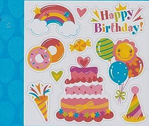Happy Birthday Magnet Pink Set of 9