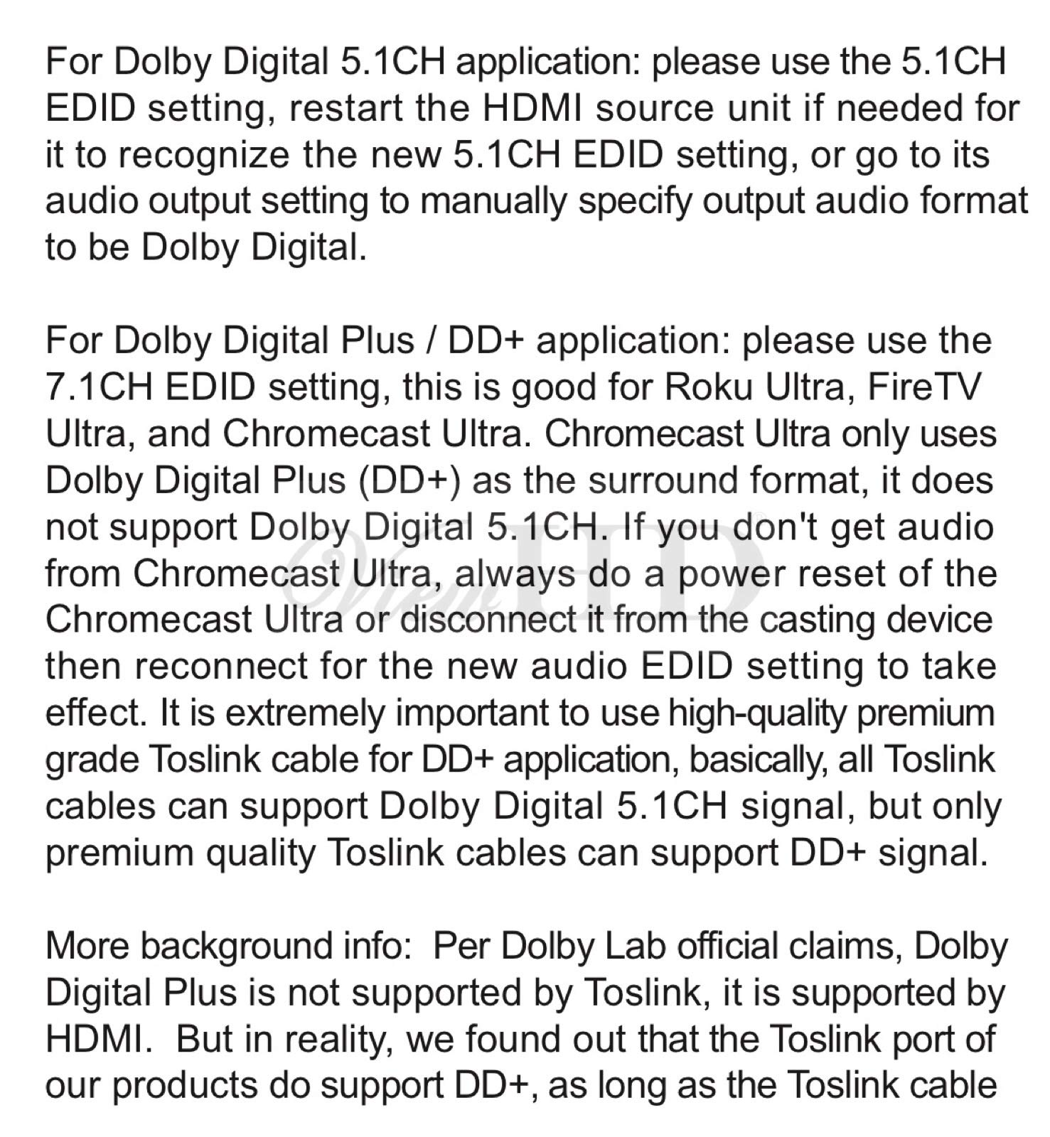 ViewHD UHD 18G HDMI Audio Extractor/Splitter Support HDMI v2.0 | HDCP v2.2 | 4K@60Hz | HDR | ARC | 3.5MM Analog Audio Output | Toslink Optical Audio Output | HDMI Audio Output | Model: VHD-UHAE2 by ViewHD (Image #7)