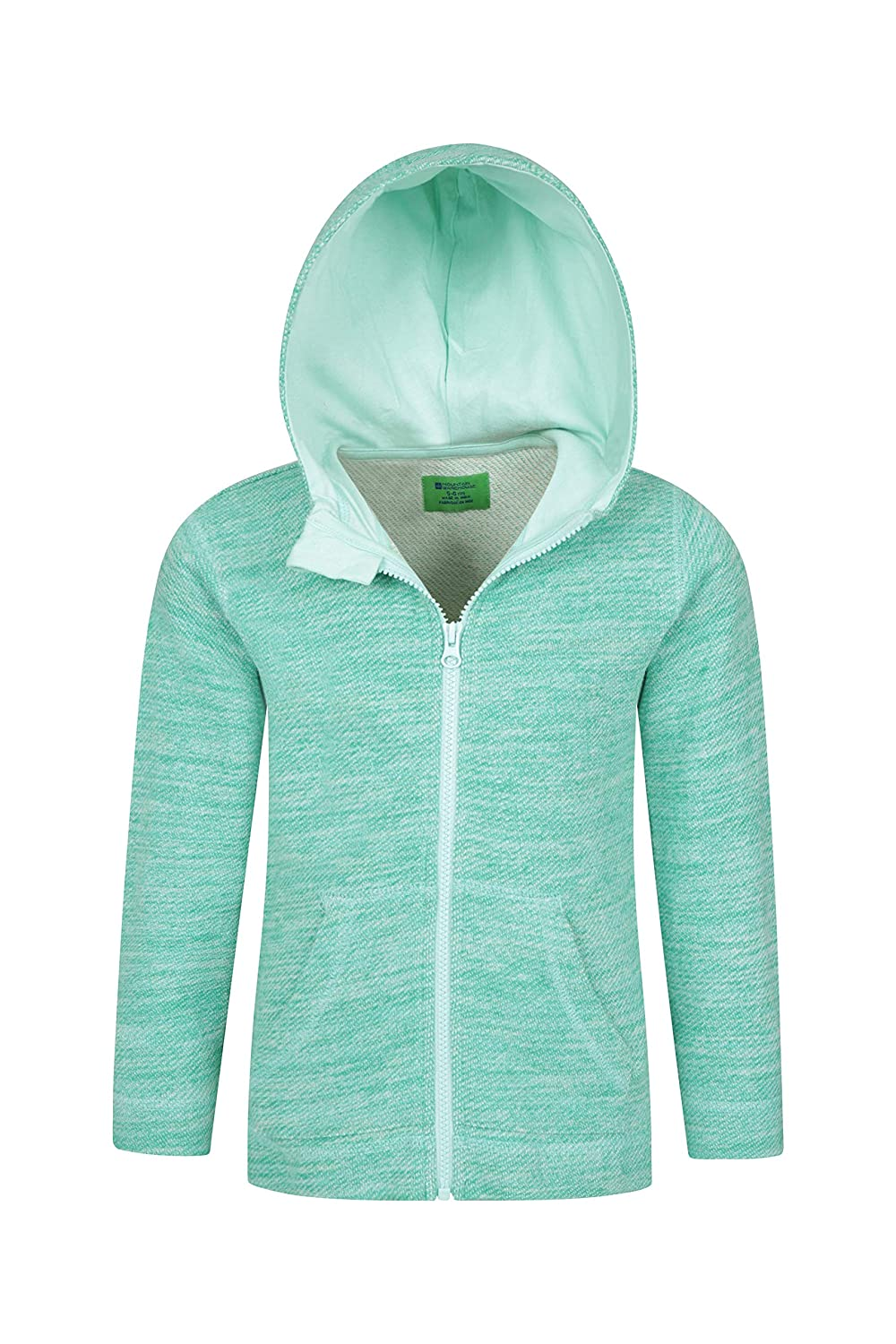 Lightweight Pullover Mountain Warehouse Meadow Kids Hoodie for Travelling Walking Front Pockets Warm /& Cosy Jacket 100/% Cotton Childrens Spring Sweatshirt