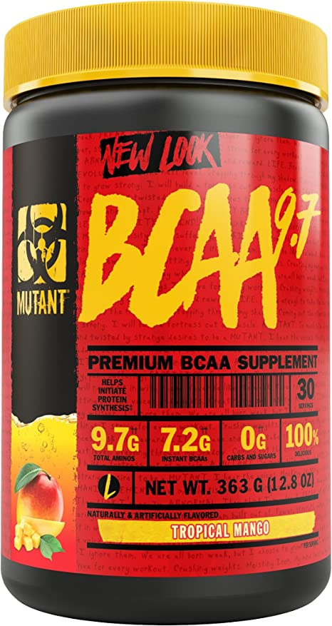 Mutant BCAA 9.7 Supplement BCAA Powder with Micronized Amino Energy Support Stack - 348 g - Tropical Mango