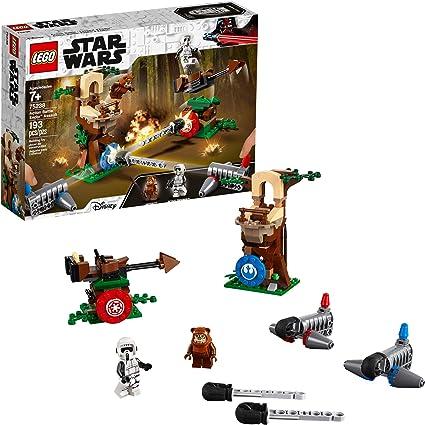 Amazon Com Lego Star Wars Action Battle Endor Assault 75238 Building Kit 193 Pieces Toys Games