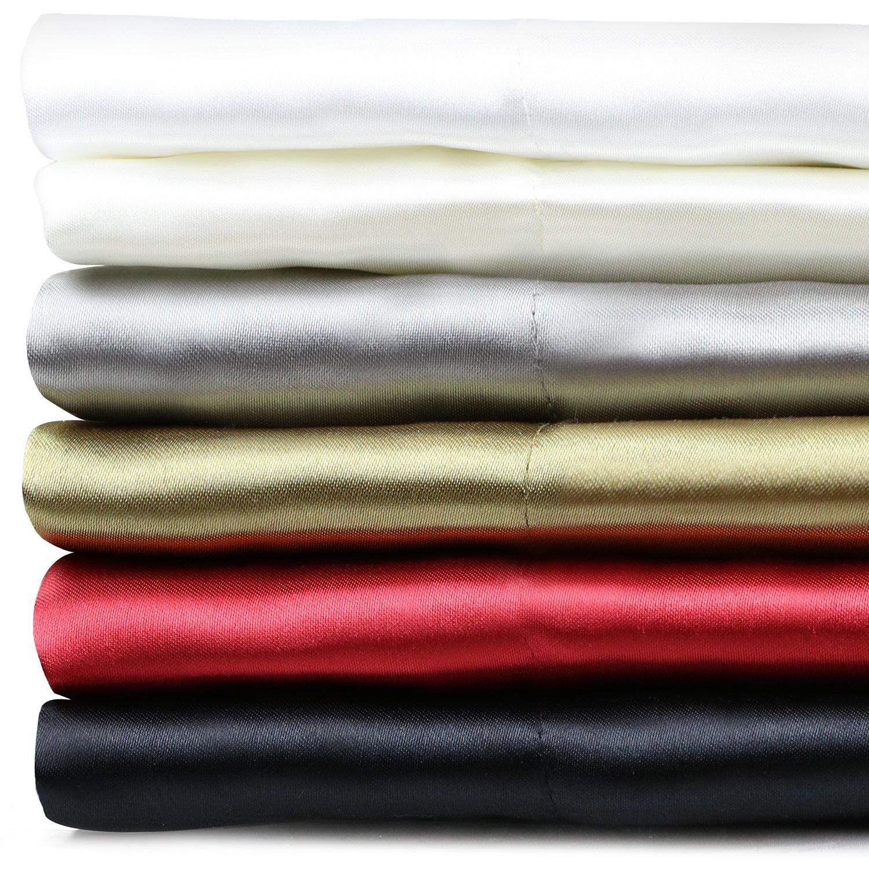 MALOUF FINE LINENS® Satin Silky Soft Deep Pocket Sheets 4-Piece Bed Sheet Set