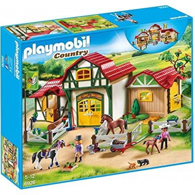 PLAYMOBIL Horse Farm Building Set: Toys & Games