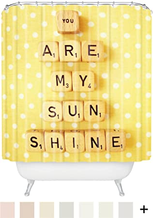 Deny Designs Happee Monkee You Are My Sunshine Shower Curtain, 69 X 72
