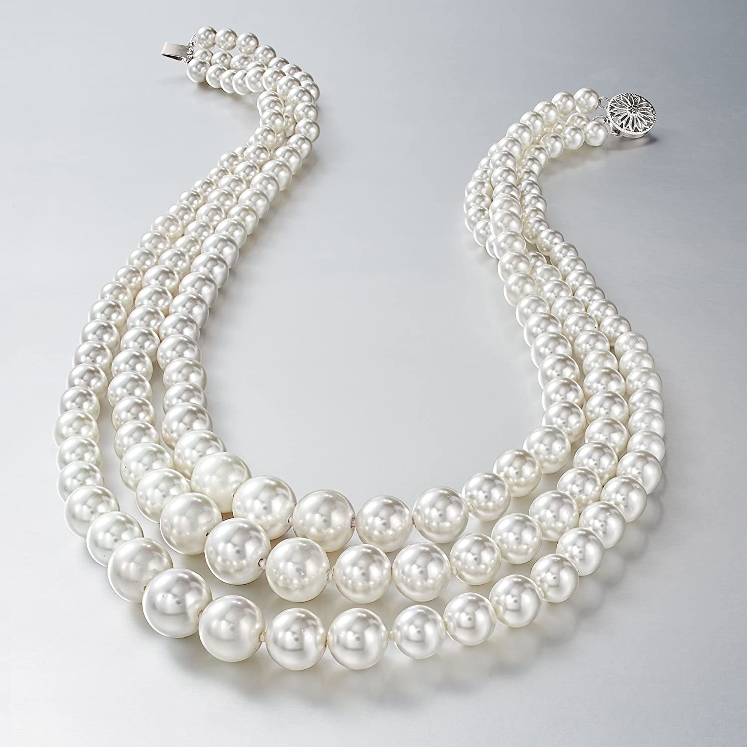 show original title Details about  /Necklace from prehnit in faceted spherical shape Ø-3 mm 925er Silver Clasp