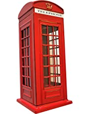 Money Boxes London Telephone Box, Red Die Cast Money Bank/British Phone Booth Piggy Bank/United Kingdom Coin Saver/Savings Storage/Great Britain UK Souvenir/For Children and Adults of All Ages