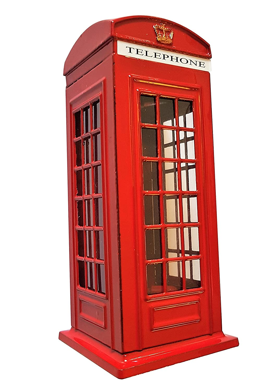 Hucha Cabina telefónica de Londres - Red Die Cast Piggy Money Bank / Cabina telefónica británica caja de dinero / Reino Unido Coin Saver / Savings Storage / Gran Bretaña UK Souvenir / Para niños y adultos de todas las edades Money Boxes money box 50386412
