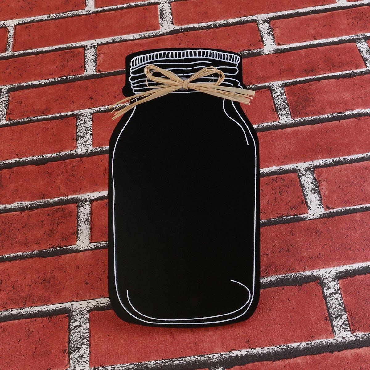 Decoration Memo rosenice tabelle Nero Ardesia decorativo in forma di bottiglia per messaggio Mini tabelle sospesa