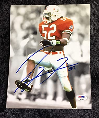 7bf0d36c Image Unavailable. Image not available for. Color: Baltimore Ravens Legend  NFL HOF Miami Hurricanes Ray Lewis Autographed Signed 8x10 Memorabilia PSA/ DNA