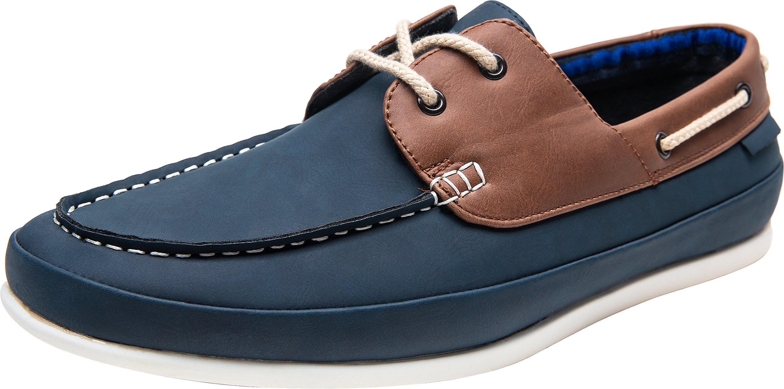 JOUSEN Men's Boat Shoes Casual Driving Moccasin Loafers (9,Blue)