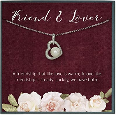 Amazon Com Grace Of Pearl Girlfriend Necklace Best Girlfriend Gifts For Wife Gifts For Wife Birthday Gift Ideas Girlfriend Presents Wife Quotes Jewelry