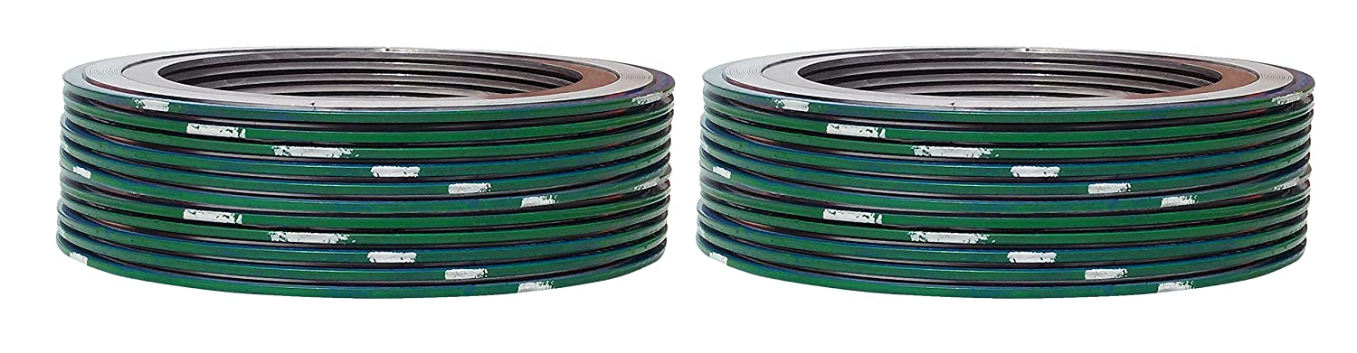 Pack of 24 Pressure Class 600# of NJ Green Band with White Stripe Supplied by Sur-Seal Inc Sterling Seal 9000IR8316PTFE600X24 316L Stainless Steel Spiral Wound Gasket with 316SS Inner Ring and PTFE Filler for 8 Pipe