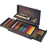 Faber-Castell Art and Graphic Collection 36 Polychromos Artist's Pencils and Pastels Set in Wooden Case (18-110086)