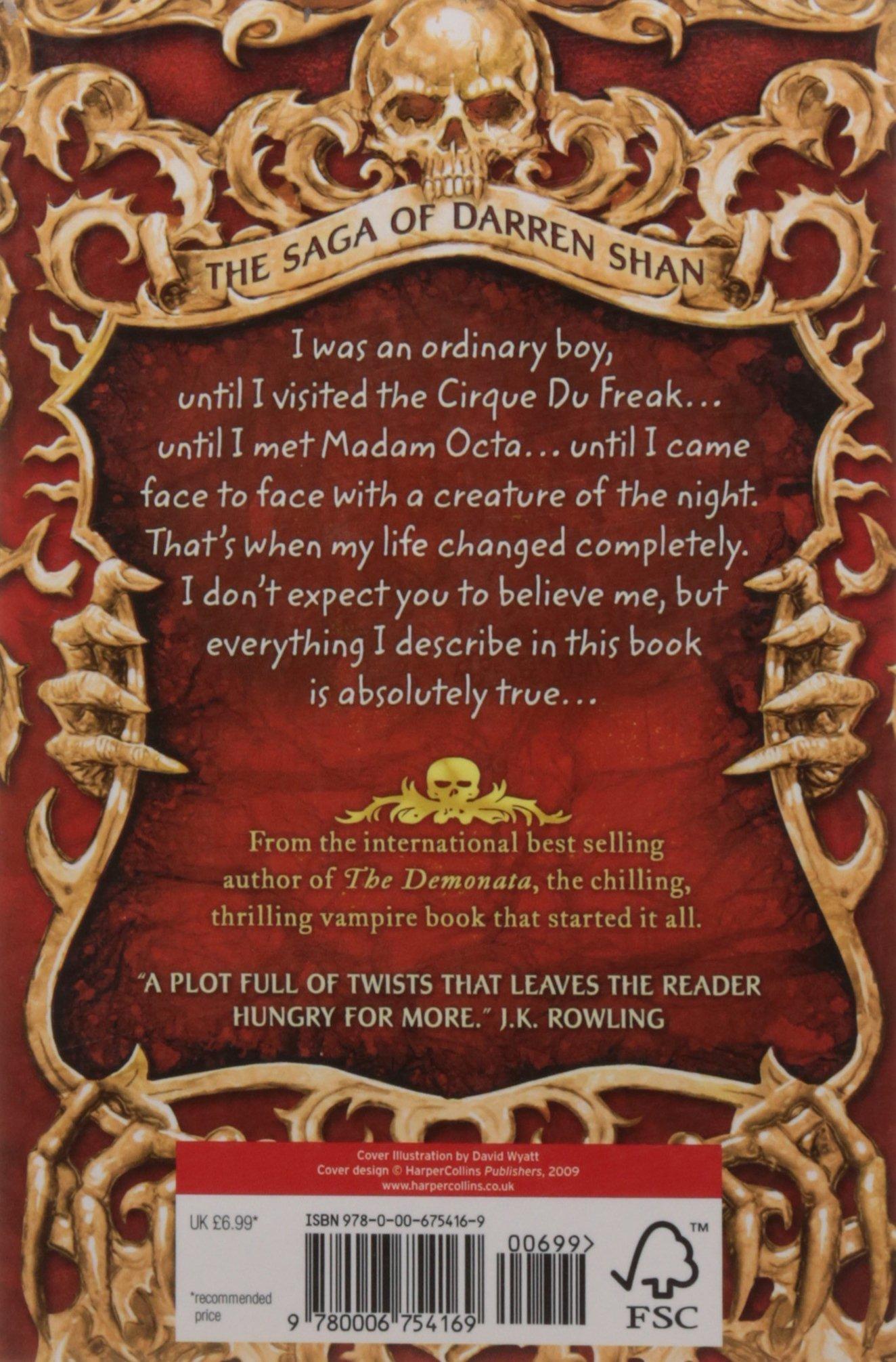 Cirque Du Freak (the Saga Of Darren Shan Book 1): Amazon: Darren  Shan: 9780006754169: Books