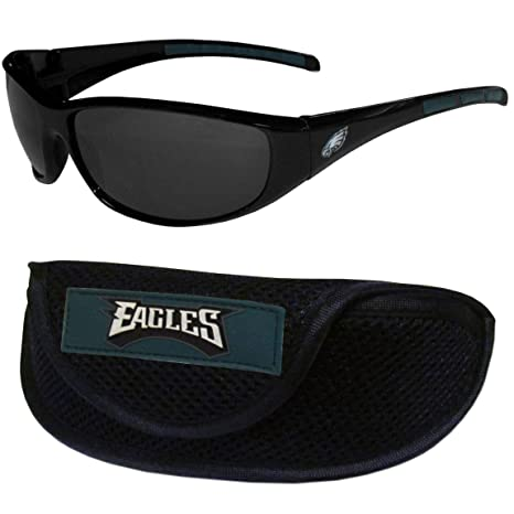 3674cba7950d Image Unavailable. Image not available for. Color  Siskiyou NFL  Philadelphia Eagles Wrap Sunglasses   Sport ...
