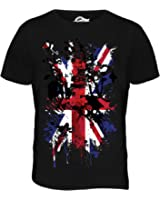 Candymix - Great Britain Union Jack Abstract Flag Print - Mens T Shirt Top T-Shirt