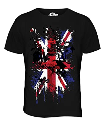 Candymix - Great Britain Union Jack Abstract Flag Print - Mens T Shirt Top T -