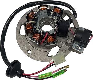 SHUmandala Magneto Stator Replace for Polaris Scrambler 50 90 2001-2003/Sportsman 90 2001-2006/Predator 50 90 2003-2006 0450523 0451000 0450522 0450998/ETON 50 90 RXL-50 RXL-90 AXL/DXL/NXL/TXL 650234