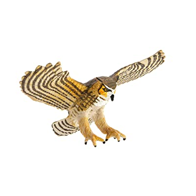 Safari Ltd Wings of the World Birds Great Horned Owl: Toys & Games