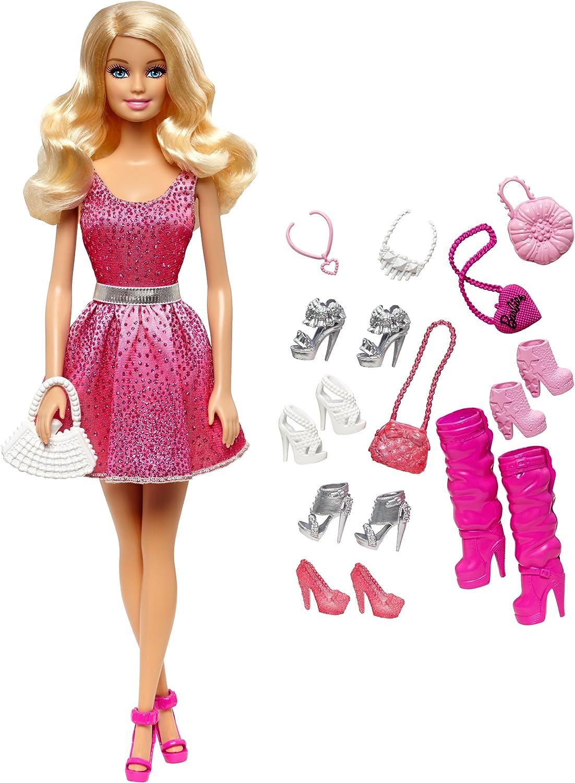 Borse Accessori-Set di tre elementi NUOVO MATTEL Barbie Doll Scarpe