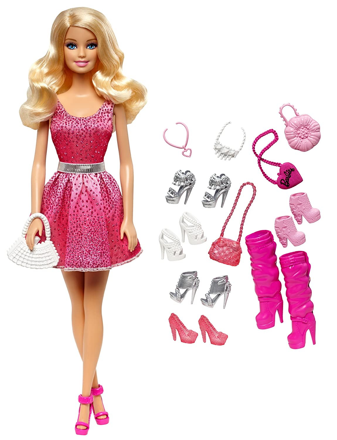 cce21a7ce36e29 Amazon.com  Barbie Doll and Shoes Giftset  Toys   Games