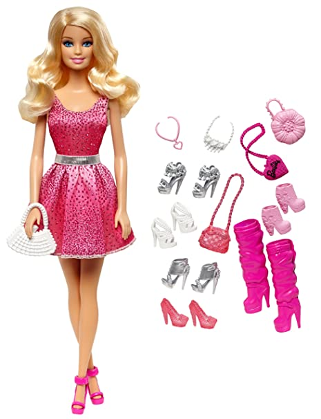 8a6cf038b1dc9 Amazon.com: Barbie Doll and Shoes Giftset: Toys & Games
