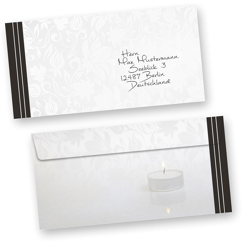 Beschriftung Briefumschlag Trauerkarte
