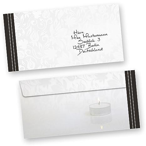 agradecimiento Tarjetas de Luto (10 Sets) con inscripción
