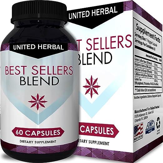 California Products Weight Loss Formula Pure Garcinia Cambogia Raspberry Ketones Green Coffee Bean Diet Pills Appetite Suppressant HCA for Men Women 60 Capsules