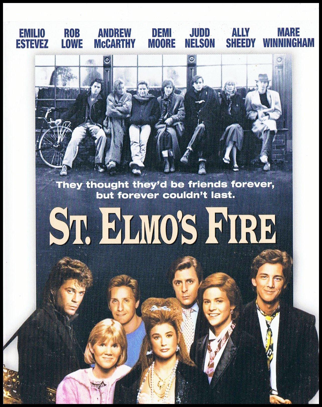 St Elmos Fire FRIDGE MAGNET Rob Lowe 6x8 Movie Poster Magnetic Canvas Print