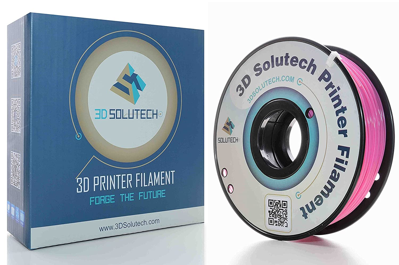 Dimensional Accuracy +//- 0.03 mm 1.0KG 3D Solutech Real Pink 3D Printer PLA Filament 1.75MM Filament 2.2 LBS