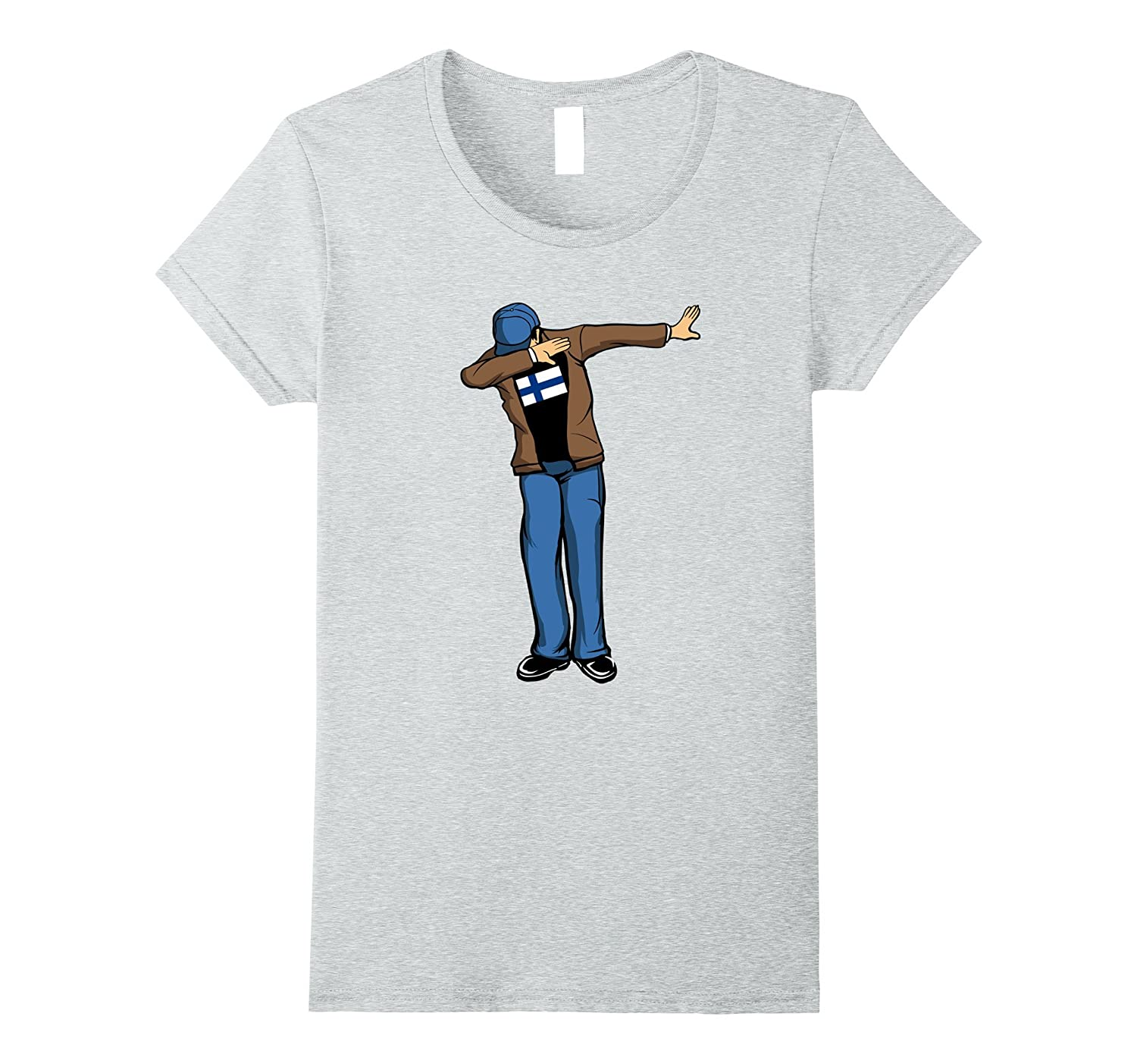 Finnish Dabbing Dad Father's Day Finland Flag T-Shirt