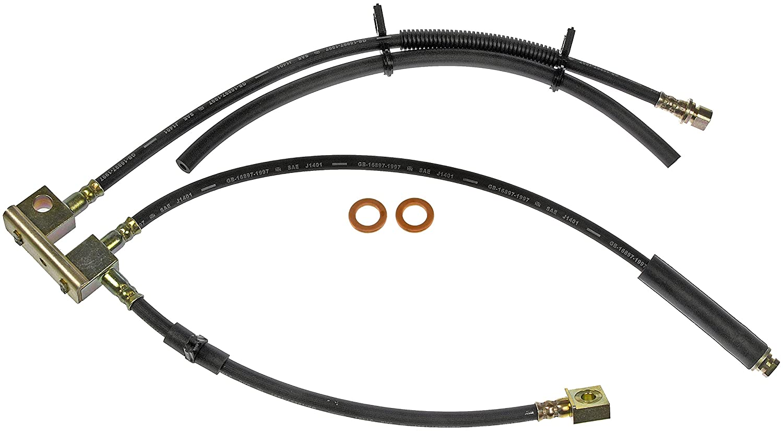Pro Braking PBF7285-SIL-BLA Front Braided Brake Line Silver Hose /& Stainless Black Banjos