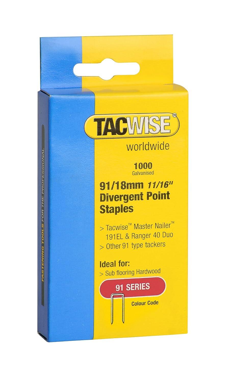 Tacwise 91//18mm Petites agrafes galvanis/ées Bo/îte de 1000