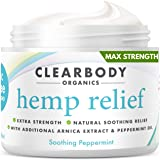 Hemp Pain Relief Cream- Made in USA Lab Tested Hemp Oil Formula for Arthritis, Back, Knee, Joint, Carpal Tunnel, Nerve, Muscl