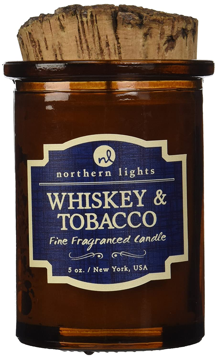 Northern Lights Candles 52601 Spirit Jar Candle, Whiskey & Tobacco, 5 oz