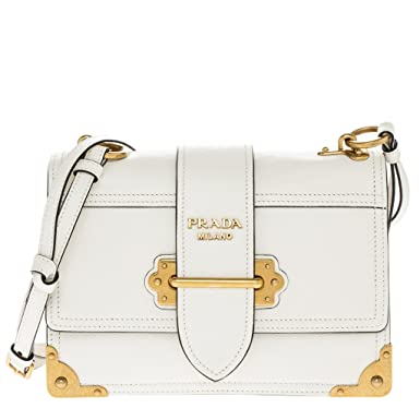 de9156adde0302 ... low cost prada womens glace cahier small calf shoulder bag white 1d888  08cd8