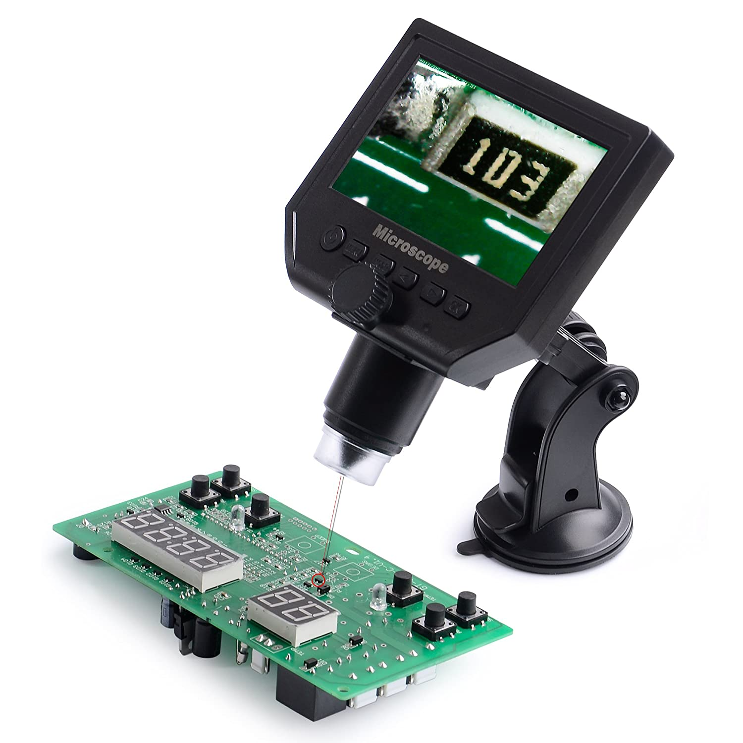 Rechargeable Digital Microscope with Photo//Video Capture 1-600/× Magnification DM-G600