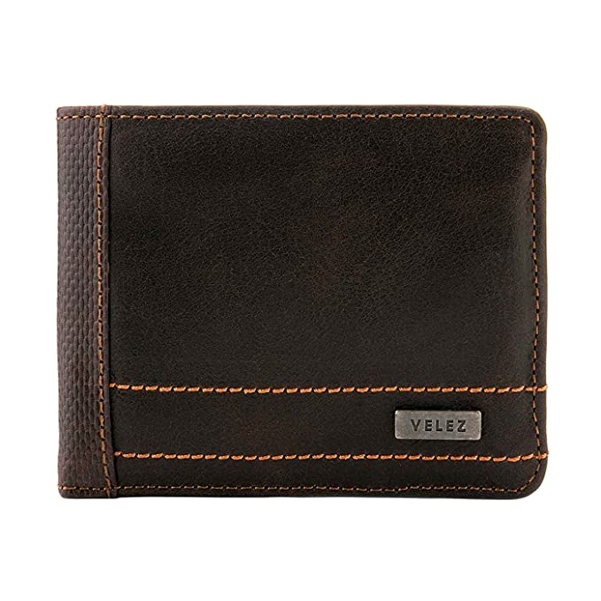 Velez Mens Genuine Soft Columbian Leather Bifold Wallet Set Slimfold Credit Card Holder | Carteras y Billeteras de Cuero Colombiano para Hombres Brown at ...