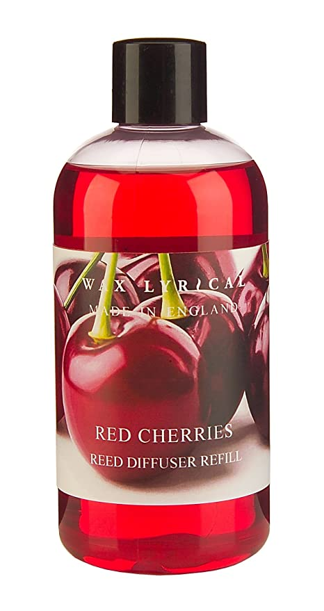 wax lyrical 250 ml reed diffuser refill red cherries amazon co uk