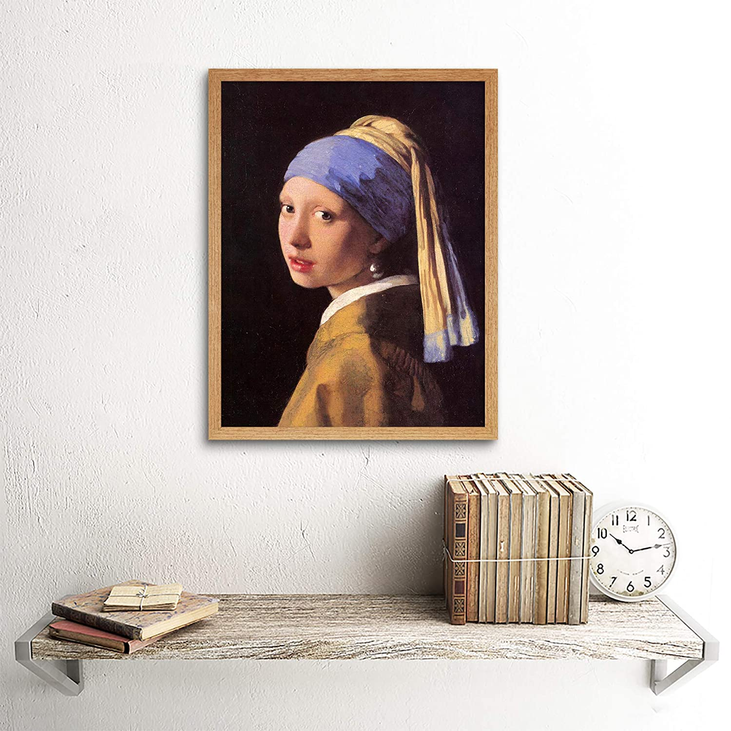 Wee Blue Coo Johannes Vermeer Girl with Pearl Earring Old Master Painting Unframed Wall Art Print Poster Home Decor Premium