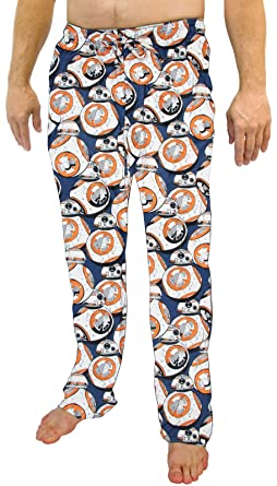Star Wars: Mens BB-8 Droid Pattern Loungewear Pajama Pants (Small)