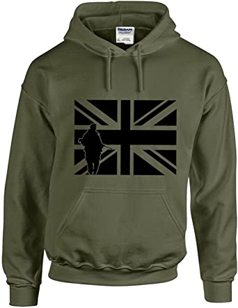 British Army Union Jack Hooded Sweatshirts a155e1c21
