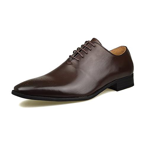 Robelli - Zapatos de cordones de Material Sintético para hombre Negro marrón 00GKV4D32k