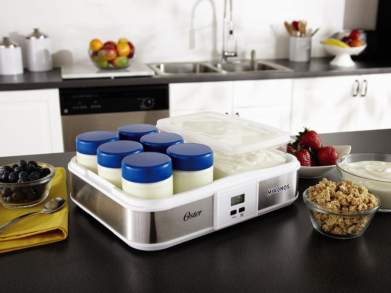 2-Quart Jarden Consumer Solutions Oster CKSTYM1010 Mykonos Greek Manual Yogurt Maker