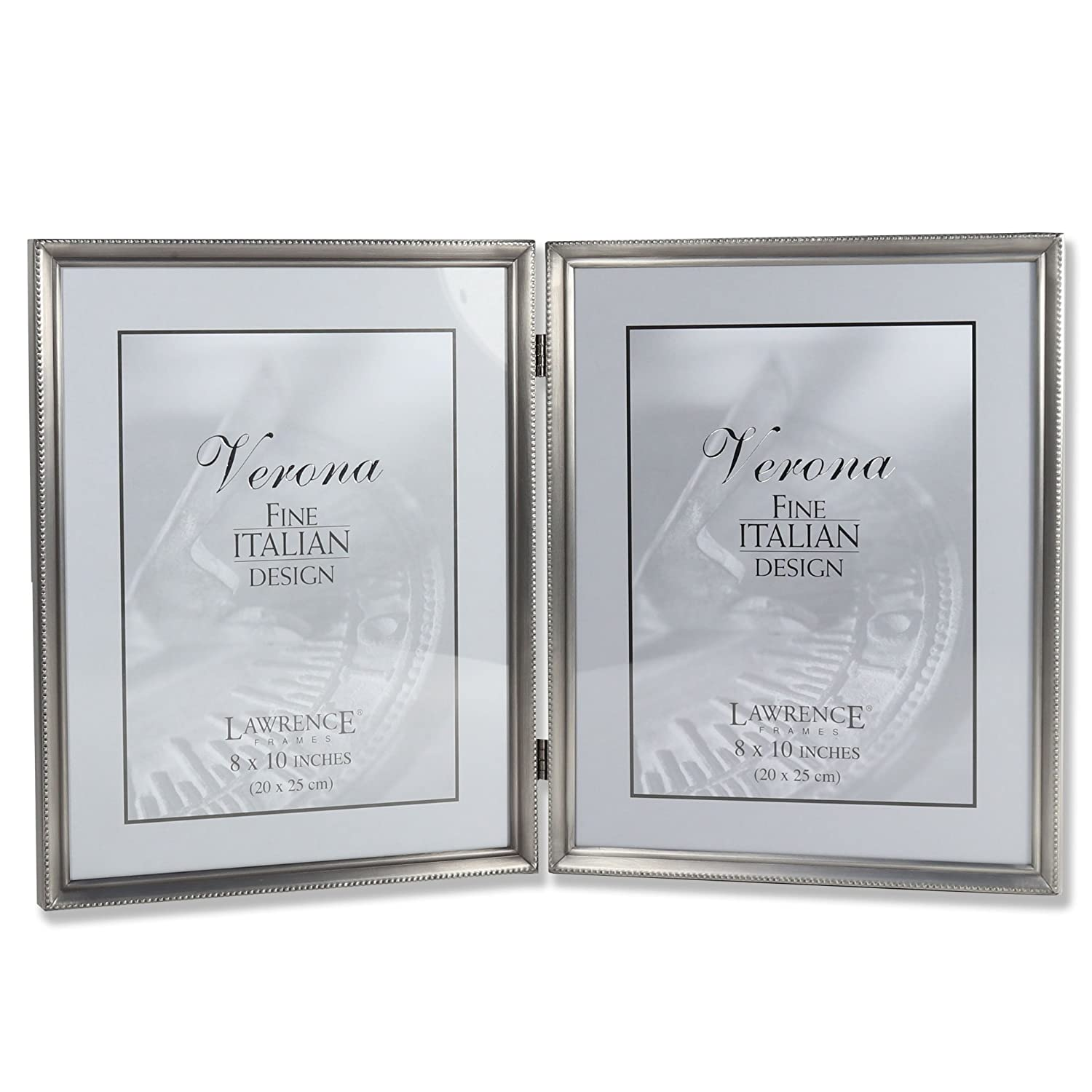 Amazon.com - Lawrence Frames Antique Pewter 8x10 Hinged Double ...